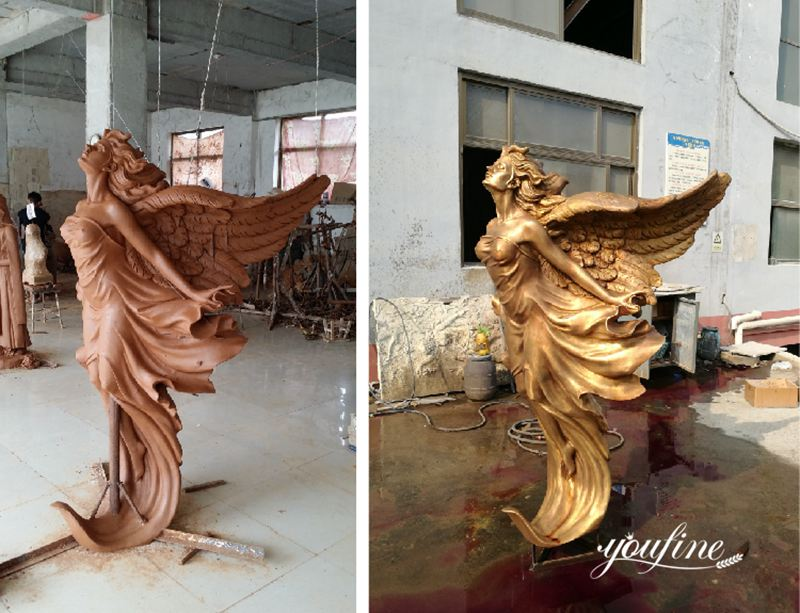 bronze angel statue