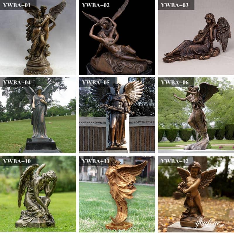 bronze saint michael statue