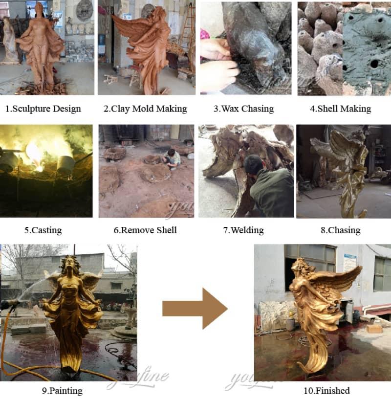 large bronze angel statue