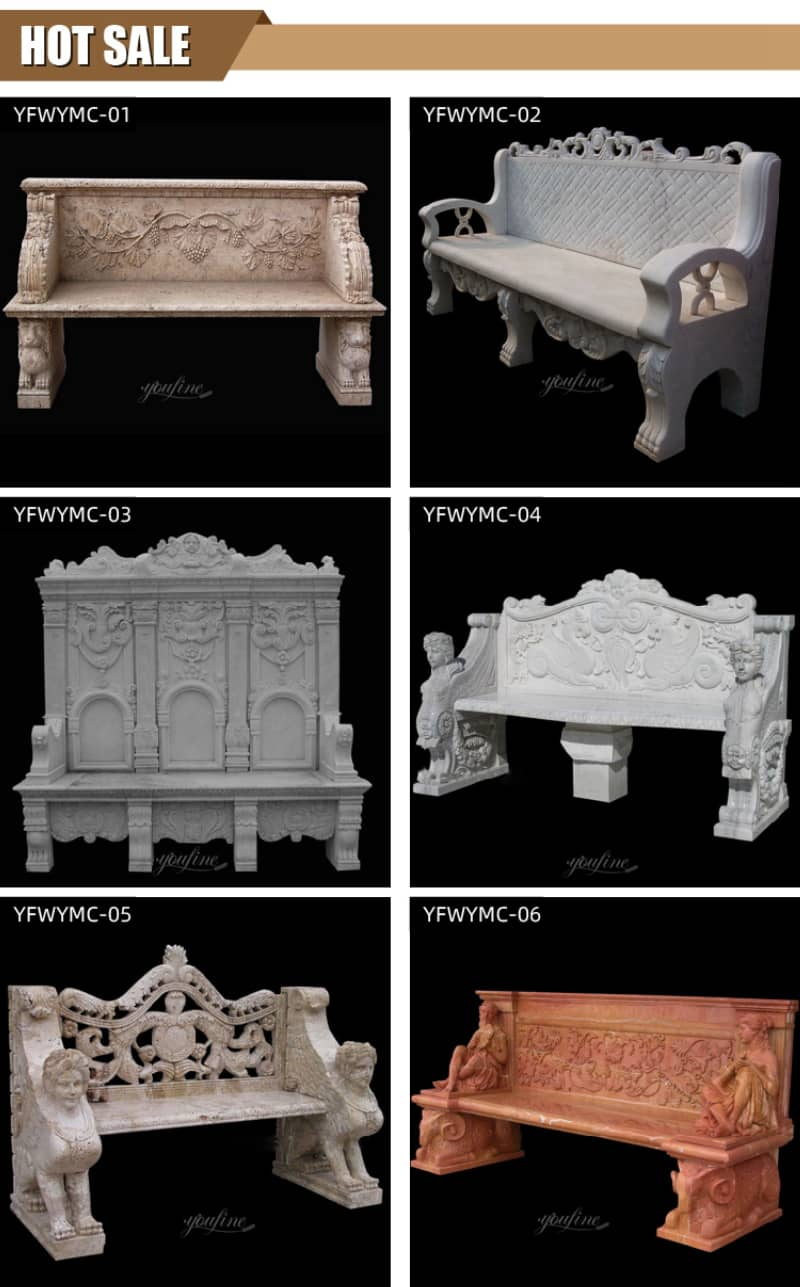 marble bench for cemetery