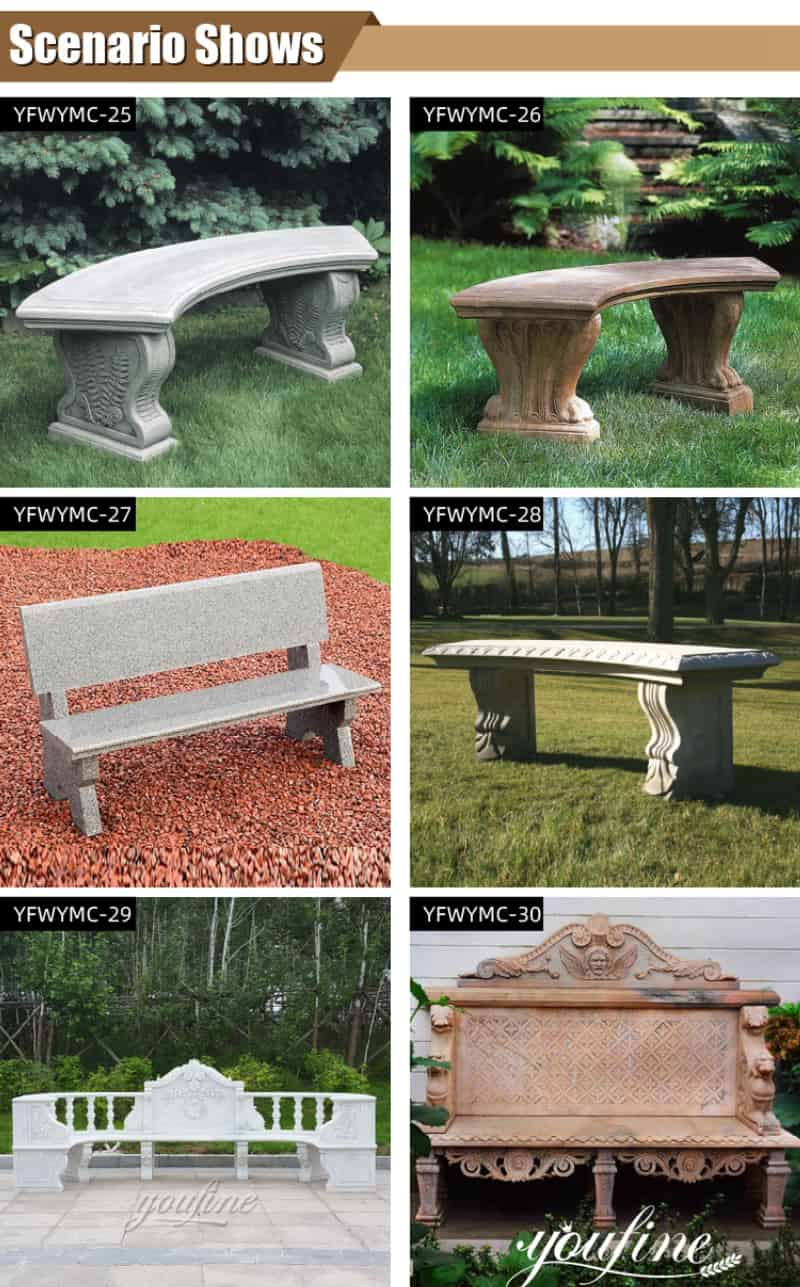 marble bench outdoor