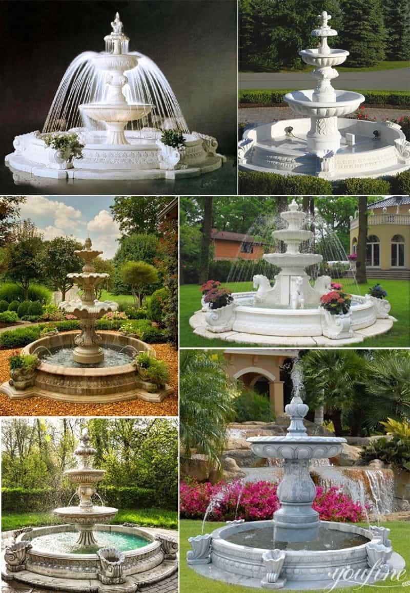 Garden marble fountain (2)