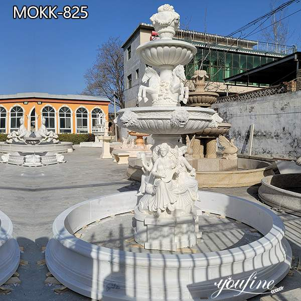 Natural White Marble Water Fountain for Garden for Sale MOKK-825