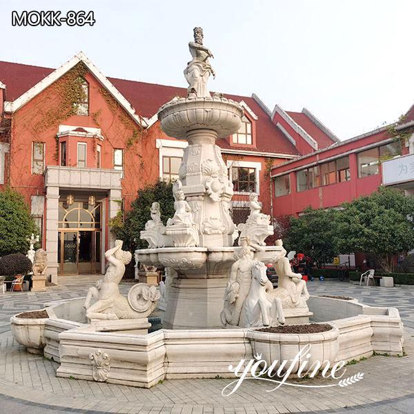 Natural White Marble Water Fountain for Garden for Sale MOKK-864