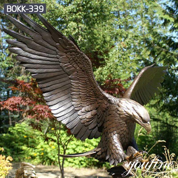Large Bronze Eagle Statue Garden Decor for Sale BOKK-339