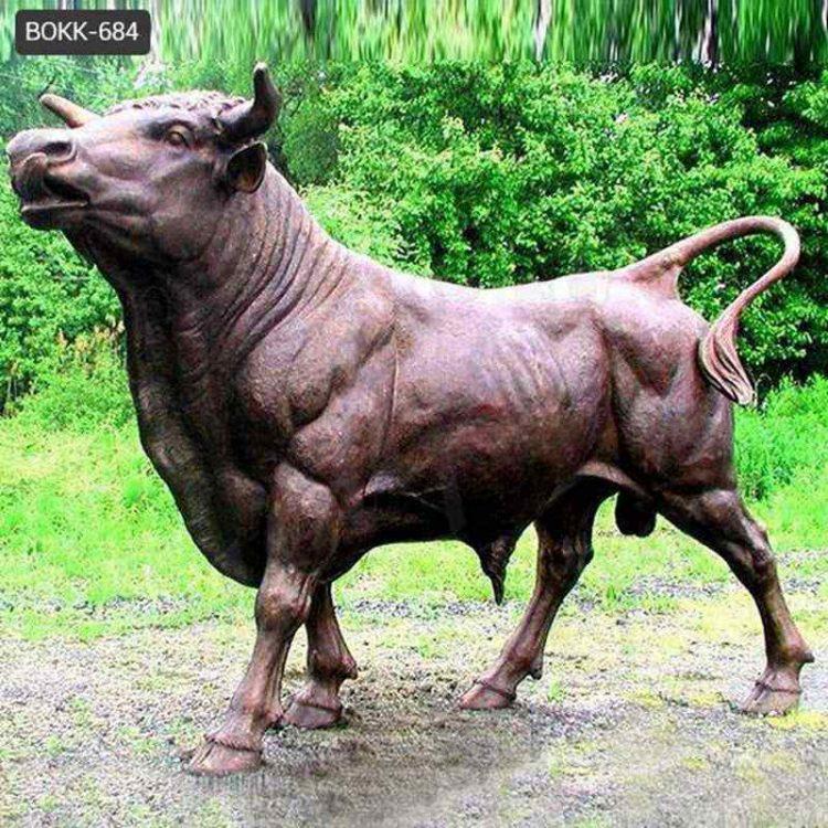 Large Outdoor Antique Bronze Bull Statue for Sale BOKK-684