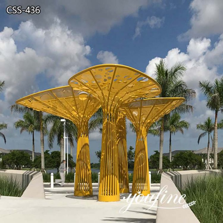 Large Outdoor Metal Tree Sculpture Seaside Decor for Sale CSS-436