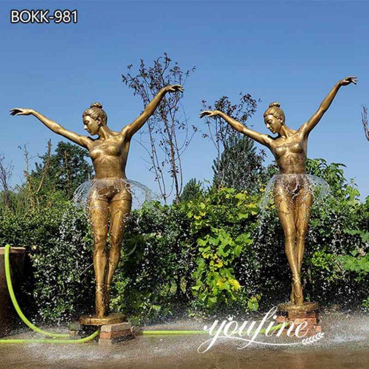 Life-Size Bronze Ballerina Fountain for Sale BOKK-981