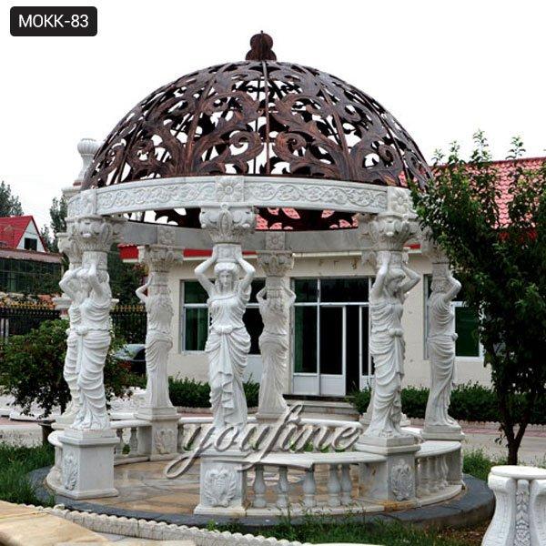 Antique Round Marble Gazebo for Outdoor Garden Decor for Sale MOKK-83