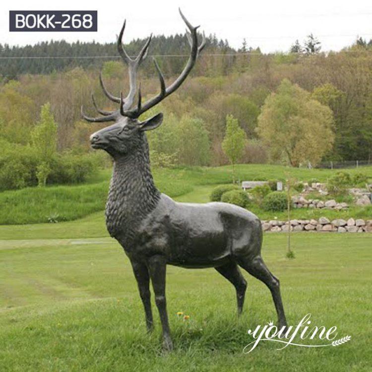 Life-Size Garden Bronze Stag Statue for Sale BOKK-268