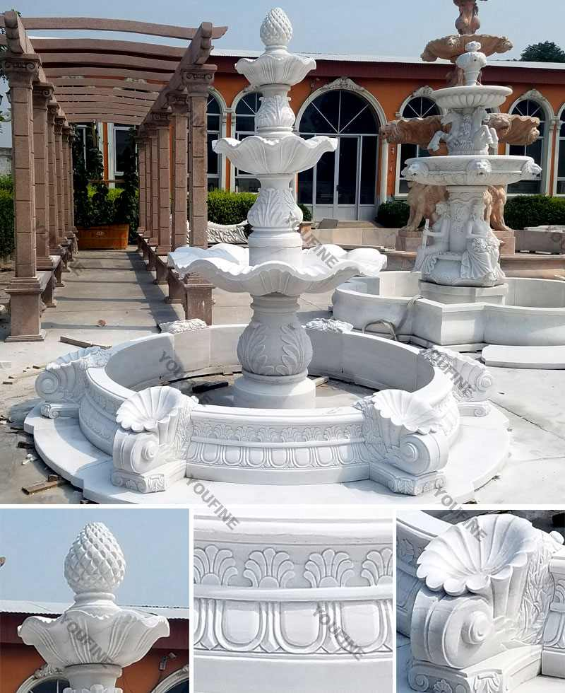 marble water fountain