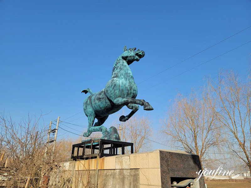 Life size bronze horse statue (2)