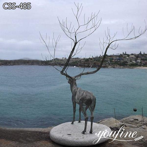 Modern Large Metal Deer Sculpture Outdoor Decor for Sale CSS-485