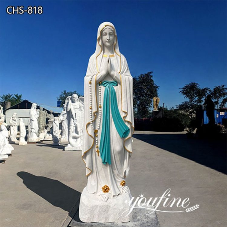 Life-Size Outdoor Marble Our Lady of Lourdes Statue for Sale CHS-818