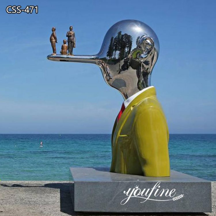Large Pinocchio Abstract Metal Sculpture City Seaside Decor for Sale CSS-471