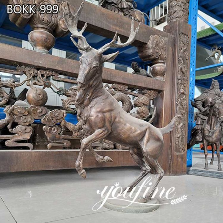 Life Size Bronze Deer Statue Garden House Decor for Sale BOKK-999