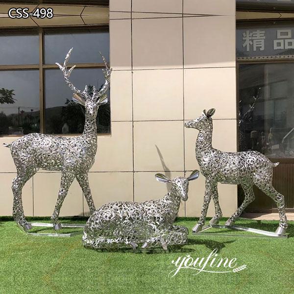 Outdoor Light Sculpture Metal Deer Sculptures for Sale CSS-498