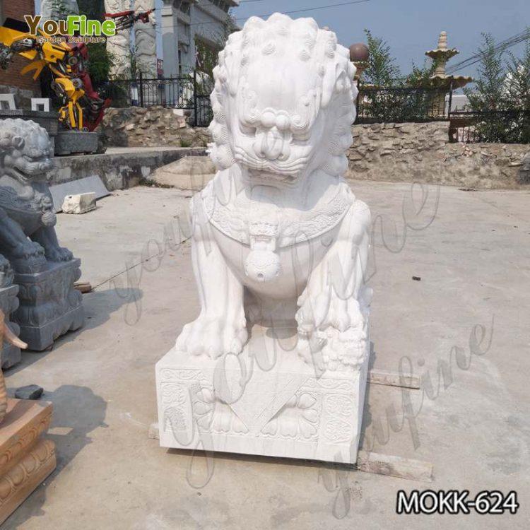 Life-Size Marble Foo Dog Statues Home Decor for Sale MOKK-624