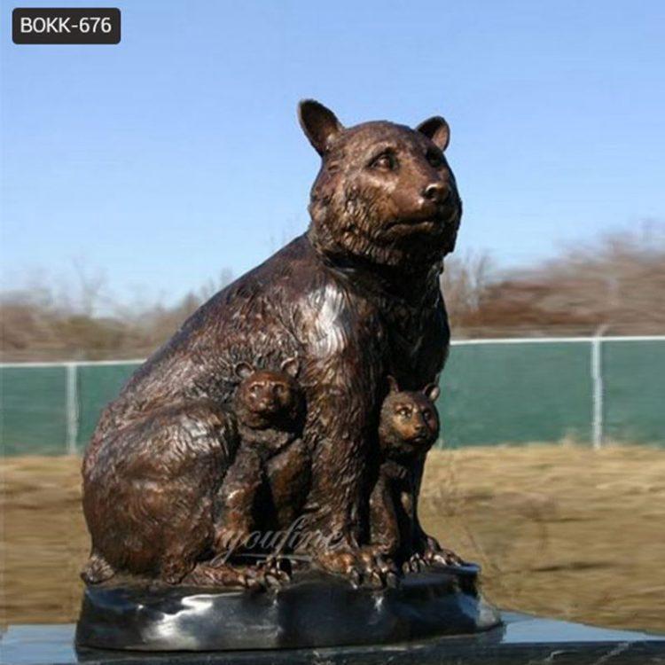 Life-Size Bronze Grizzly Bear Statue Garden Decor for Sale BOKK-676