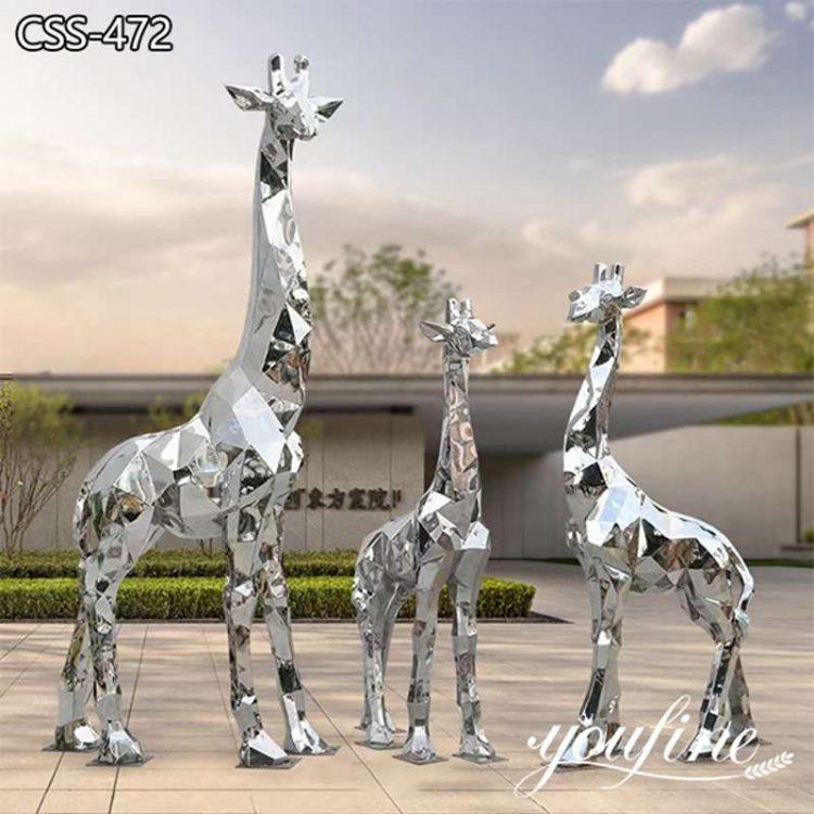 Large Geometric Metal Giraffe Sculpture Square Decor Factory Supply CSS-472