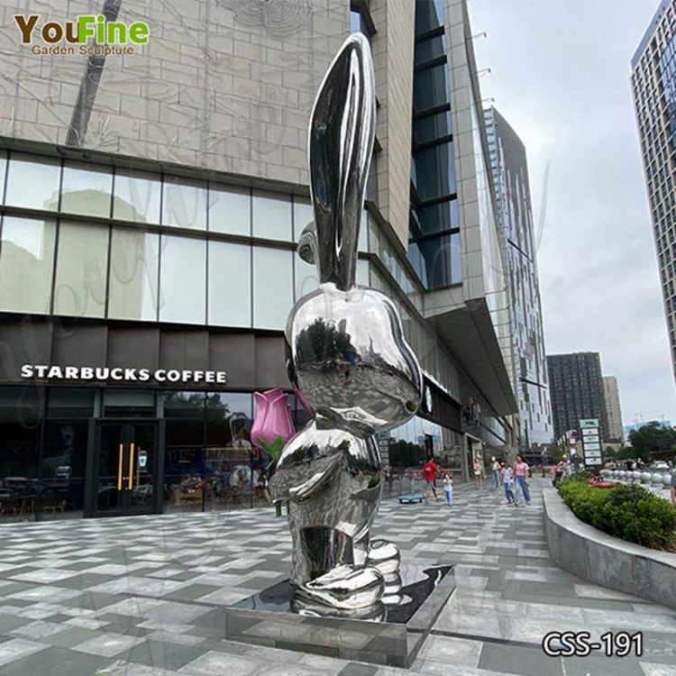 Modern Large Garden Metal Rabbit Sculpture Suppliers CSS-191