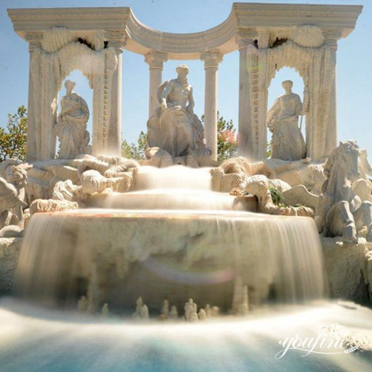 Largest Marble Outdoor Water Fountain Trevi Replica for Sale MOKK-01