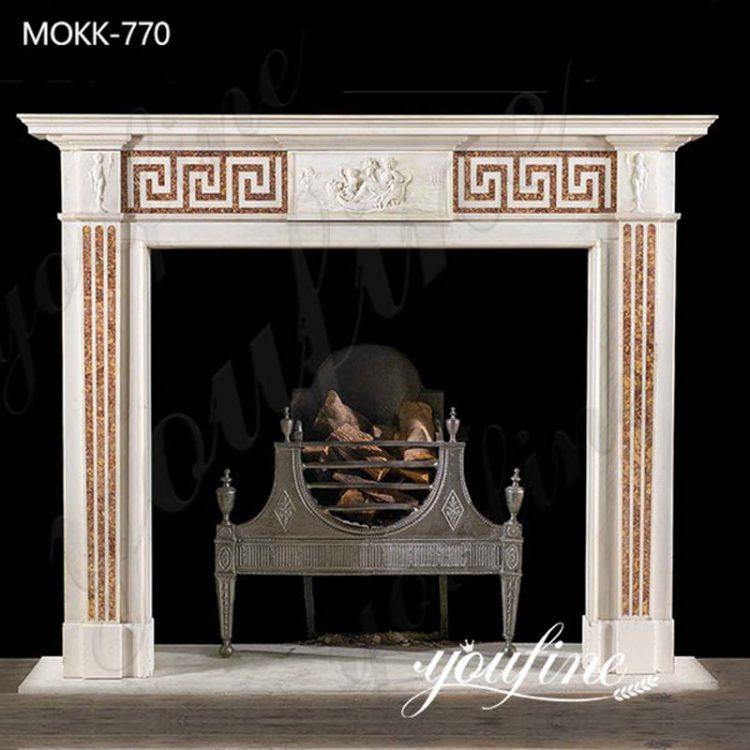 Hand Carving Marble Georgian Fireplace Home Decor for Sale MOKK-770
