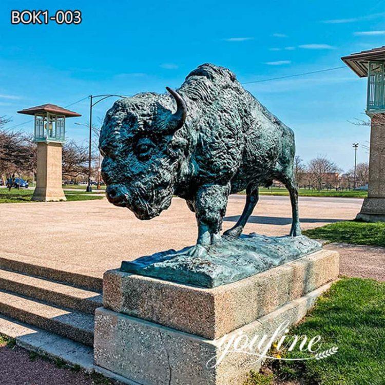 Superior Quality Bronze Bison Statue Park Decor Factory Supply BOK1-003