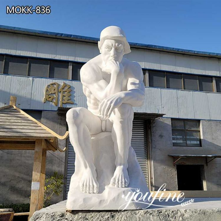High-Quality Marble the Thinker Statue Outdoor Decor for Sale  MOKK-836